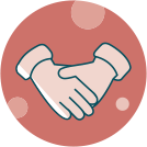 Financial Assistance Handshake Icon
