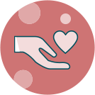 Free-Drug Program Hand & Heart Icon